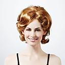 nadolijevanja srednje duljine visoke kvalitete sintetička narav svjetla blondecurly izgled kose perika