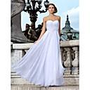 Lanting Bride® Pouzdrové Drobná / Nadměrné velikosti Svatební šaty - Klasické & nadčasové / Okouzlující & dramatické Na zem Srdce Šifón s