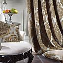 rokokové dva panely Paisley brown ložnice polyesterové záclony závěsy