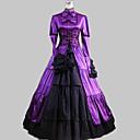 Jednodílné/Šaty Klasická a tradiční lolita Lolita Cosplay Lolita šaty Fialová / Černá Patchwork Dlouhé rukávy Long Length Šaty Pro Dámské