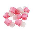 10ks gumy akrylové odstranění fingerstalls nehtové sady