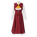 Inspirirana Touhou projekt Yuka Kazami Video igra Cosplay Kostimi Cosplay Suits / School Uniforms Kolaž Crvena Poluvrijeme rukavMaja /