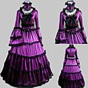 dugi rukav do poda, ljubičaste saten aristokratkinja lolita haljina