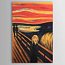 Ručně malované Slavné / Abstraktní portrét Jeden panel Plátno Hang-malované olejomalba For Home dekorace