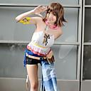 Inspirirana Final Fantasy Yuna Video igra Cosplay nošnje Cosplay Suits Kolaž Bijela Kratki rukavMaja / Kratke hlače / Šal / Povez za ruku