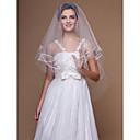 Vjenčani velovi One-tier Prsta Burke Cut Edge 62.99 u (160cm) Til Bijela / SlonovačaRetka, Ball haljina, princeza, Plašt / stupac, Truba