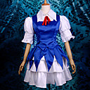 Inspirirana Scarlet Weather Rhapsody Cirno Video igra Cosplay Kostimi Cosplay Suits / Dresses Kolaž Plava Poluvrijeme rukav Maja / Haljina