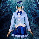 Inspirirana Vocaloid Snow Miku Video igra Cosplay Kostimi Cosplay Suits Kolaž Plava Dugi rukav Kaput / Suknja / Headpiece / Slušalice