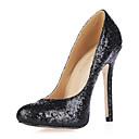 pjenušava glitter Stiletto peta pumpe / okrugli toe stranka / večeras obuća (više boja)