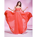 TS Couture Prom / Military Ball / Formal Evening Dress - Watermelon Plus Sizes / Petite Sheath/Column Strapless / Sweetheart Floor-length Georgette