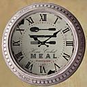 "13.5 ""H夕食の時間金属壁時計"