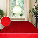 jacquard apstraktno ostavlja pravokutni poliester crveni stolnjak