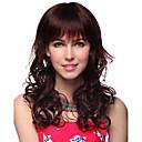 nadolijevanja duge valovite 100% ljudske kose perika s 2 boje izbora