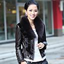 dugi rukav fox fur šal ovratnik životinjsko tkivo kože s krznom mink povremeni / uredski jakna (više boja)