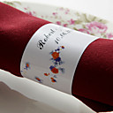 Personalized Paper Napkin Ring - Lovely Flowers (Set of 50) (Set of 50)