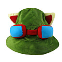 Hat/Cap Inspirirana LOL Teemo Anime / Video Igre Cosplay Pribor Kratki / Šešir Zelena Polar Fleece Male