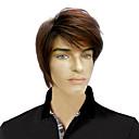 capless nejvyšší stupeň syntetické short rovné hnědé vlasy, paruky