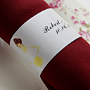 Personalized Paper Napkin Ring - Bride (Set of 50)