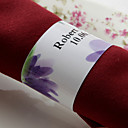 Personalized Paper Napkin Ring - Purple Flower (Set of 50)
