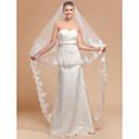 Vjenčani velovi One-tier Katedrala Burke Čipka aplicirano Edge 118,11 u (300cm) Til SlonovačaRetka, Ball haljina, princeza, Plašt /