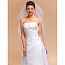 Vjenčani velovi Three-tier Elbow Burke Cut Edge 35.43 u (90cm) Til Slonovača Retka, Ball haljina, princeza, Plašt / stupac, Truba / sirena