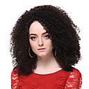 capless kvalitetna sintetička tamno smeđa srednja vijak kovrčave kose perika