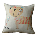 kočka tisk dekorativní polštář