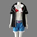 Inspirovaný Blue Exorcist Shura Kirigakure Anime Cosplay Kostýmy Cosplay šaty Patchwork Czarny Dlouhé rukávyKabát / Kraťasy / Podprsenka