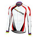 SANTIC® Biciklistička majica Muškarci Dugi rukav BiciklProzračnost / Ugrijati / Quick dry / Moisture Permeability / Prednji Zipper /