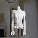 Dugi rukav nabranog ovratnika bijele pamučne Classic Lolita bluzu