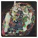 Embrace Gustav Klimt Famous Reprodukce na plátně
