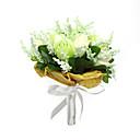 "Cvijeće za vjenčanje Krug Roses Buketi Vjenčanje Party / Večernji Saten Pamuk 9.45 ""(Approx.24cm)"