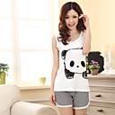 dámská roztomilý panda tisk pyžama (horní délka: 61 cm prsa: 82 cm krátká délka: 31 cm)