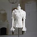 Dugi rukav nabranog ovratnika bijele pamučne Princess Lolita bluzu