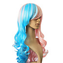 Capless syntetické vlasy Barva Smíšený dlouhé kudrnaté vlasy paruka