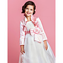 Delicate Satin Long Sleeve Flower Girl Party/Wedding Evening Jacket/Wrap (More Colors) Bolero Shrug
