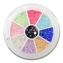 yemannvyou®240pcs 9-color 3mm nail art akryl drahokamu