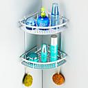 """浴室棚 アルミニウム ウォールマウント 220 x 220 x 250mm (8.66 x 8.66 x 9.8"""") アルミニウム モダン"""