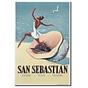 Tištěné plátno umění Klasická San Sebastian Vintage Collection Apple se protáhl Rám