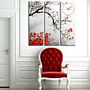キャンバスの3pcsでモダンなスタイルの葉の壁時計