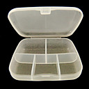 yemannvyou®5-grid prijenosni jasno plastične nail art ugostiteljstvo Kutija za slučaj alat (9 * 6 * 2)