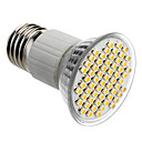 E27 4W 60x3528SMD 180-240LM 3000-3500K Warm White Light LED žarulja Spot (85-265V)