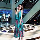 Kvenstar Ženska šifon Bohemia Beach cvjetni print dugim haljinama