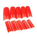 500pcs Red Pure Color Francuski Navlaka za nokte Savjeti