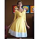TS Swing haljina,V izrez,kontrastnih boja