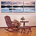 Protezala Canvas Art Pejzaž Lonely Brod Set od 3