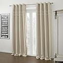 Moderní dva panely pevné slonoviny obývací pokoj polyester zatemňovací závěsy závěsy