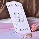 """Non-personalizaton Tri preklopa Vjenčanje Pozivnice Pozivnice-50 Piece / Set Classic Style Reljefni papir 8 4/5 """"x 4 1/4"""" (25 * 11cm) Uzde"""
