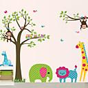 DIYの壁のステッカーの動物の漫画の動物園洗える壁のステッカー