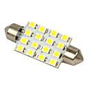 Merdia White 16-SMD 12V feston Dome Light LED žarulje 211-2 212-2 569 578 - Bijela (2kom)-LEDD002B16